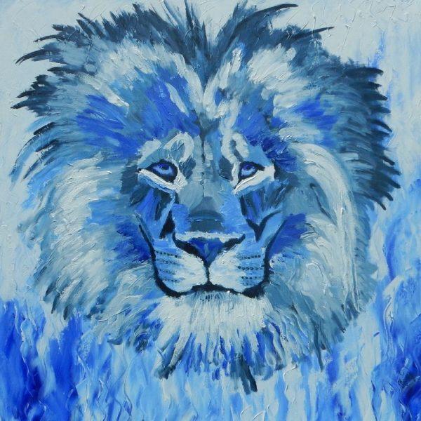 Hear This Lion Roar - original artwork painting by KerryT