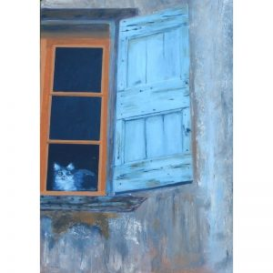 KerryT artwork for sale Cat In The Window In France