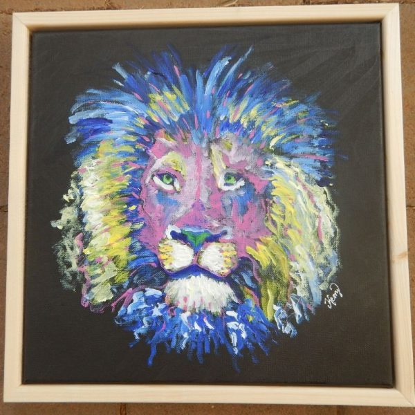 KerryT artwork for sale colourful lion