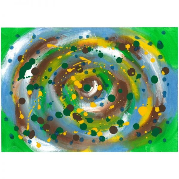 KerryT print for sale Green Swirl
