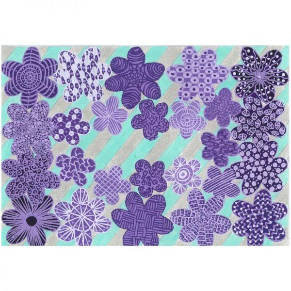 KerryT print for sale Purple Daisy