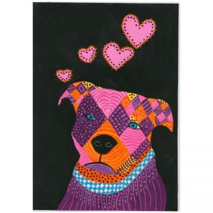 KerryT print for sale Staffy
