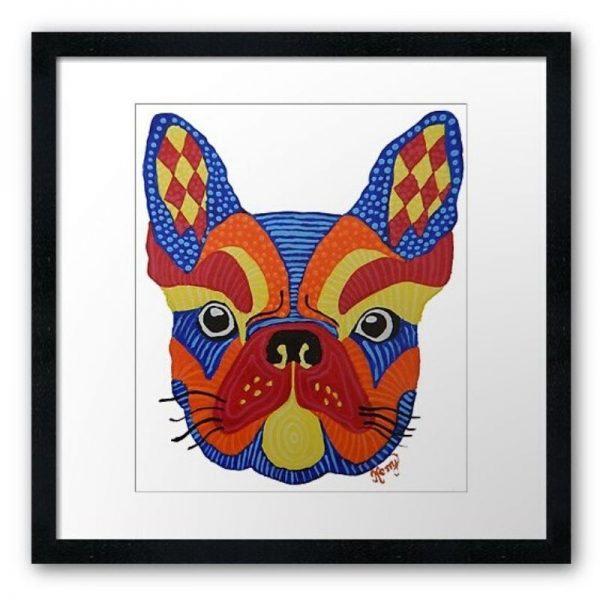 KerryT artwork for sale French Bulldog black frame