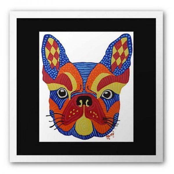 KerryT artwork for sale French Bulldog white frame