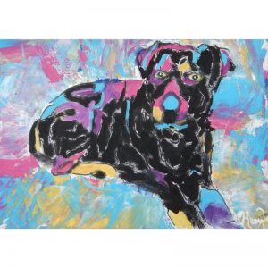 KerryT artwork for sale Kobe Rottweiler
