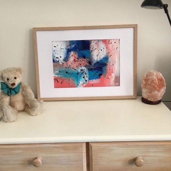 KerryT artwork for sale Summer 2020 - Brave framed A3