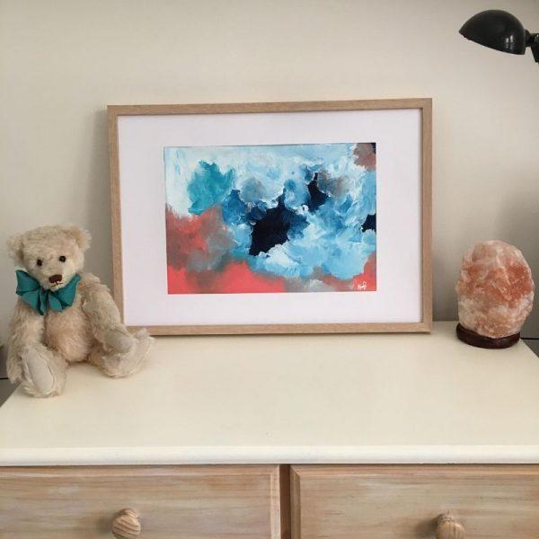 KerryT artwork for sale Summer 2020 - Storm Framed A3