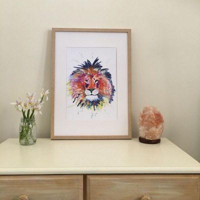KerryT print for sale Roar Lion framed A3