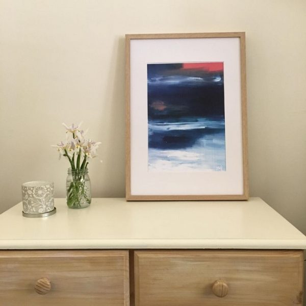 KerryT print for sale Summer 2020 - Beach Sunset framed A3