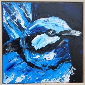 KerryT artwork for sale Blue Wren