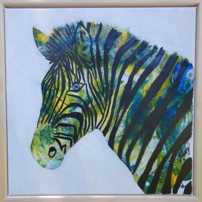 KerryT artwork for sale Zed the Zebra