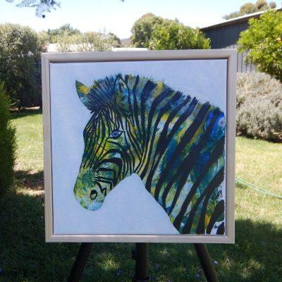 KerryT artwork for sale framed Zed the Zebra