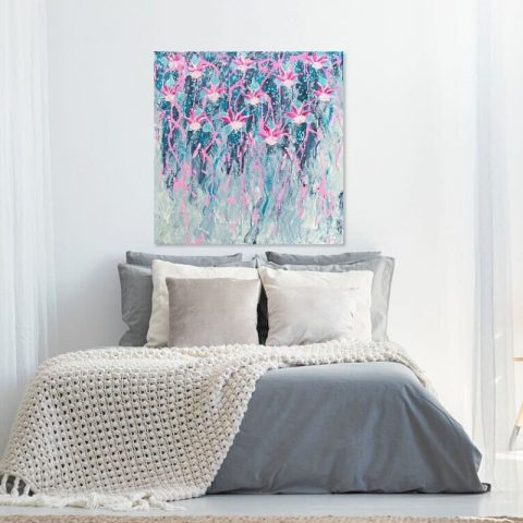 KerryT Bedroom wall art Fuschias in Flight