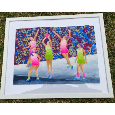 KerryT artwork for sale Netballers in Action