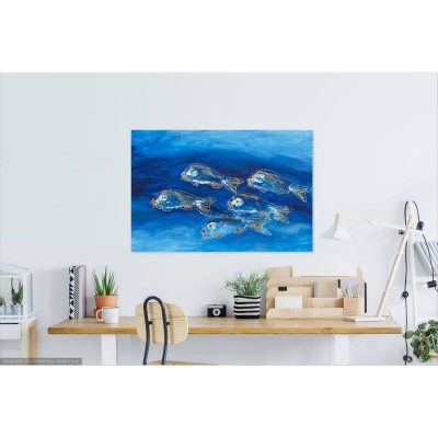 KerryT wall artwork for sale School of Fish