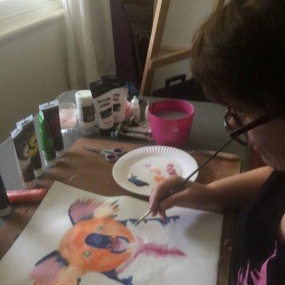 KerryT painting artwork Quirky Koala
