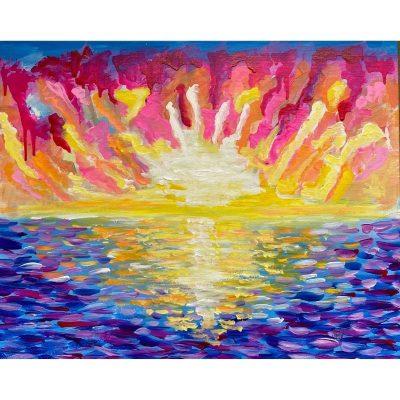 KerryT artwork Australian Beach Sunset