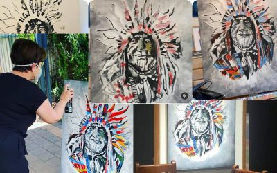 Painting An Indian Chief Artwork Commission