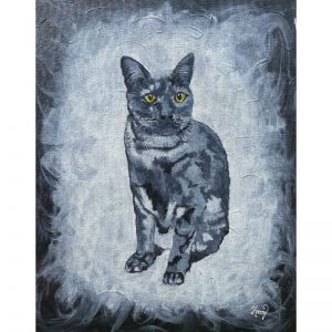 KerryT Grey Kitty Cat artwork