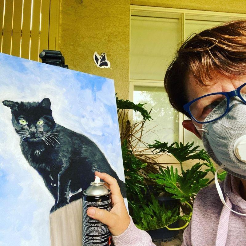 KerryT Kalo commission Margaret River winery cat