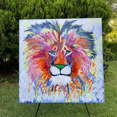 KerryT painting Courage of a Lion