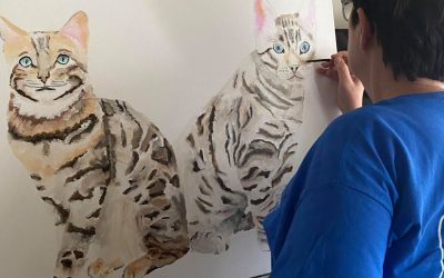 Painting Two Show Cats