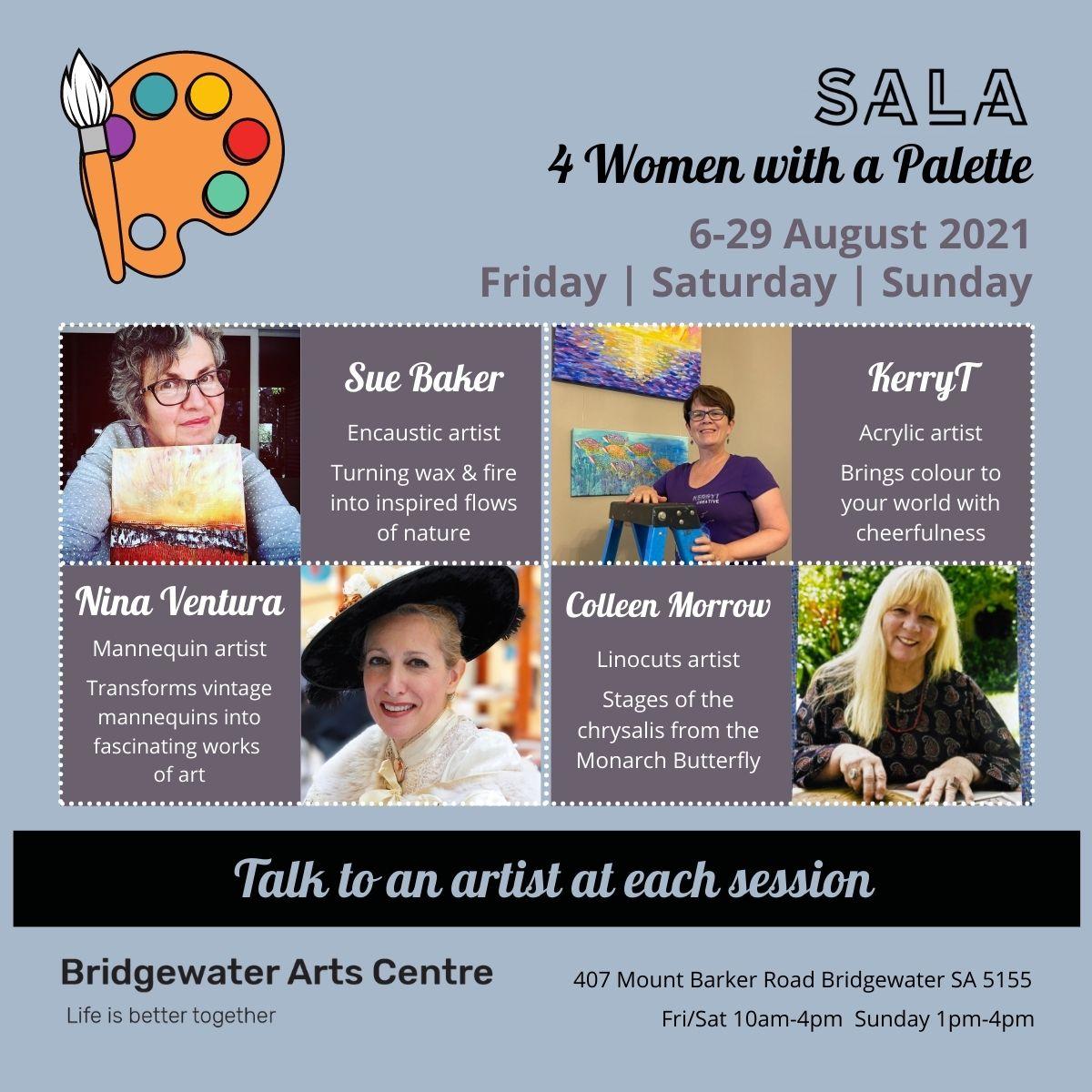 SALA 4 Women with a Palette Bridgewater Arts Centre