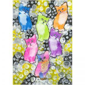KerryT artwork Kittens in Bubbles